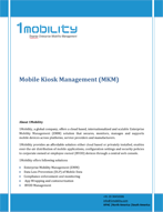 Kiosk Management Mobile Kiosk Management