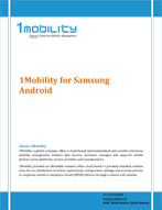 Samsung Android Datasheet Thumb 1Mobility for Samsung