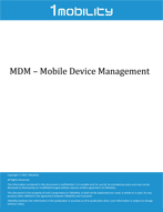 1Mobility MDM Datasheet Mobile Device Management