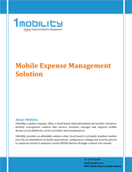 Expense Management Datasheet Datasheets