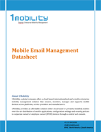 Mobile Email Management Datasheet 1Mobility Mobile Email Management