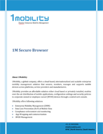 Secure Browsing Management 1Mobility Secure Browser