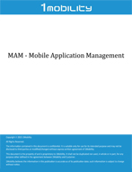 1Mobility MAM Datasheet Mobile Application Management